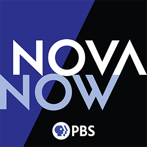 The Nova Now Podcast Logo combined with the PBS logo.